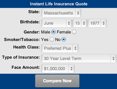 instant insurance life quote: